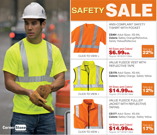 Safety Sale. Up to 22% Off High-Visibility Essentials